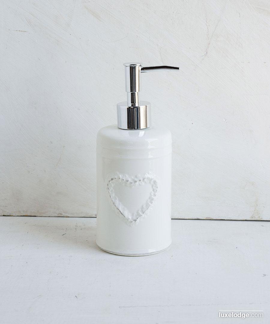 ferro e ceramica chemin/_de/_campagne porta saponetta da bagno Bianco da parete