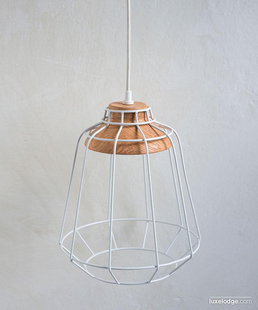 Lampada industrial legno lampade complementi di arredo for Lampada arredo