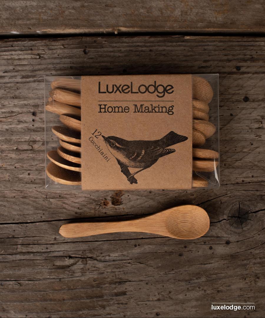 5pcs delle Famiglie Cucina Cucchiaio di Legno di bamb/ù Casalinghi Strumento Soup Cucchiaino Catering