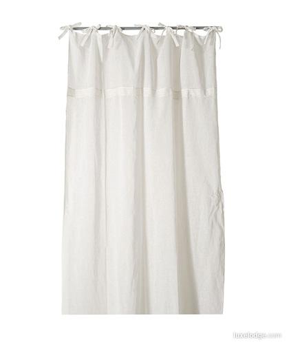 Tenda grezza in misto lino | Tende in garza di lino | Tessile ...